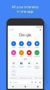 Androidアプリ「Google Go: A lighter, faster way to search」のスクリーンショット 1枚目