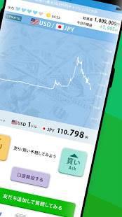 Androidアプリ「FX初心者ガイド-デモトレード(チャート)でFXを学ぶ」のスクリーンショット 2枚目