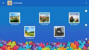 Androidアプリ「風景のジグソーパズル」のスクリーンショット 1枚目