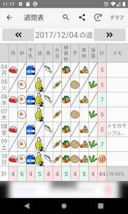 Androidアプリ「10食品群チェッカー:毎日の簡易な栄養チェックアプリ」のスクリーンショット 4枚目