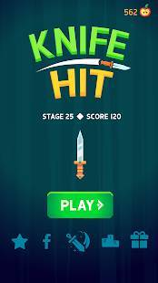 Androidアプリ「Knife Hit」のスクリーンショット 4枚目