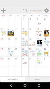Androidアプリ「Palu 〜手書き共有カレンダー〜」のスクリーンショット 1枚目