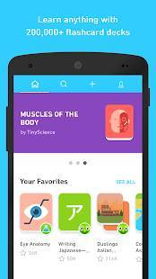 Androidアプリ「Tinycards by Duolingo: Fun & Free Flashcards」のスクリーンショット 1枚目