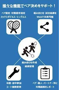Androidアプリ「ダブルス組み合わせ(乱数表)~テニス・バドミントン・卓球などダブルス競技に~」のスクリーンショット 1枚目