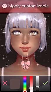 Androidアプリ「Live Portrait Maker: 女の子」のスクリーンショット 3枚目