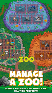 Androidアプリ「Idle Zoo Tycoon: Tap, Build & Upgrade a Custom Zoo」のスクリーンショット 1枚目