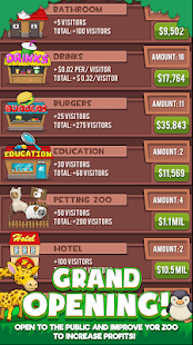 Androidアプリ「Idle Zoo Tycoon: Tap, Build & Upgrade a Custom Zoo」のスクリーンショット 2枚目