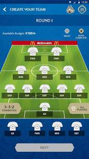 Androidアプリ「2018 FIFA World Cup Russia™ Fantasy」のスクリーンショット 1枚目