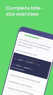 Androidアプリ「Mimo: Learn to Code」のスクリーンショット 5枚目