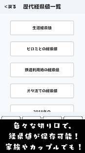 Androidアプリ「経県値 -けいけんち-」のスクリーンショット 3枚目