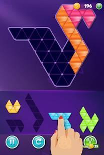 Androidアプリ「ブロック!三角形パズル:タングラム」のスクリーンショット 4枚目