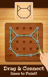 Androidアプリ「Line Puzzle: String Art」のスクリーンショット 1枚目