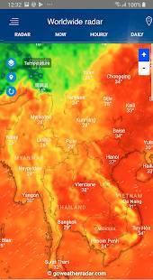 Androidアプリ「気象レーダー」のスクリーンショット 1枚目