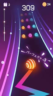 Androidアプリ「Dancing Road: Color Ball Run!」のスクリーンショット 1枚目