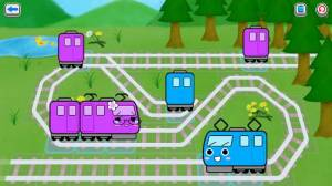 Androidアプリ「子供の心が優しくなる絵本パズル|電車とれまる 連結で解決!」のスクリーンショット 3枚目