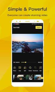 Androidアプリ「BeeCut - Incredibly Easy Video Editor for Phone」のスクリーンショット 1枚目