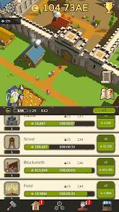 Androidアプリ「🏰 Idle Medieval Tycoon - Idle Clicker Tycoon Game」のスクリーンショット 2枚目