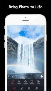 Androidアプリ「Movepic-写真の動きと写真のアニメーター」のスクリーンショット 1枚目