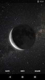 Androidアプリ「MOON - Current Moon Phase」のスクリーンショット 1枚目