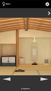 Androidアプリ「脱出ゲーム 雪の茶室」のスクリーンショット 1枚目