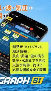 Androidアプリ「タイドグラフBI / 3,000ヶ所の釣り場に対応した潮見表アプリ」のスクリーンショット 2枚目