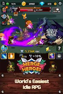 Androidアプリ「Merge Heroes Frontier: Casual RPG Online」のスクリーンショット 2枚目