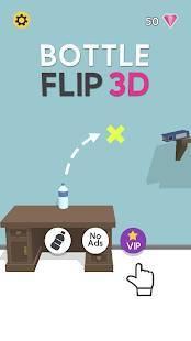 Androidアプリ「Bottle Flip 3D」のスクリーンショット 1枚目