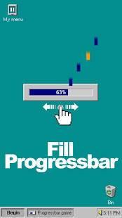 Androidアプリ「Progressbar95 - easy, nostalgic hyper-casual game」のスクリーンショット 2枚目