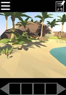 Androidアプリ「無人島からの脱出 かわいい簡単無料脱出ゲーム」のスクリーンショット 2枚目