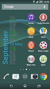 Androidアプリ「Xperia Calendar Widget」のスクリーンショット 5枚目
