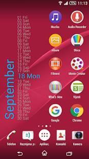 Androidアプリ「Xperia Calendar Widget」のスクリーンショット 2枚目