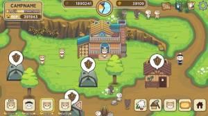 Androidアプリ「ねこの森 - キャンプ場物語」のスクリーンショット 2枚目