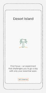 Androidアプリ「Desert Island - A Digital Wellbeing Experiment」のスクリーンショット 1枚目