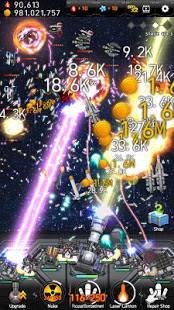 Androidアプリ「ギャラクシーミサイルウォー」のスクリーンショット 1枚目