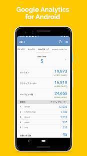 Androidアプリ「AnalyticsPM - Googleアナリティクス」のスクリーンショット 1枚目