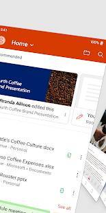 Androidアプリ「Microsoft Office: Word、Excel、PowerPoint など」のスクリーンショット 2枚目