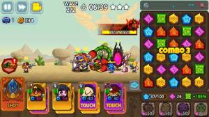 Androidアプリ「パズル&ディフェンス:Match 3 Battle」のスクリーンショット 1枚目