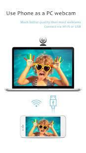 Androidアプリ「iVCam コンピュータカメラ」のスクリーンショット 1枚目