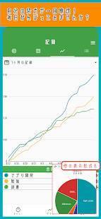 Androidアプリ「まいにちをグラフでふりかえれるアプリ-FighTimer」のスクリーンショット 3枚目