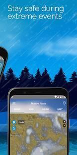 Androidアプリ「気象レーダーアプリ-気象ライブマップ、ストームトラッカー」のスクリーンショット 2枚目