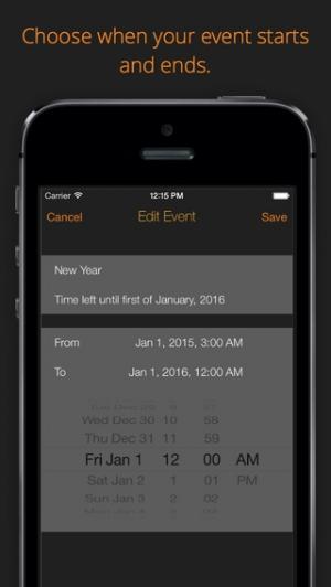 iPhone、iPadアプリ「DAYS -- Event countdown」のスクリーンショット 2枚目