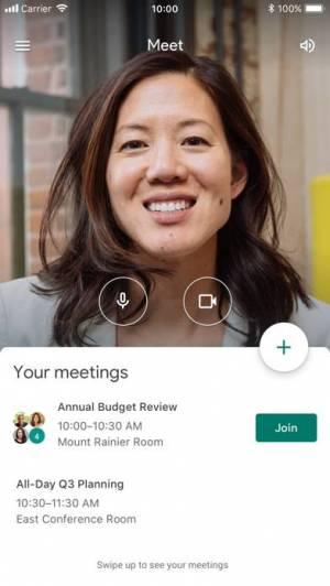 iPhone、iPadアプリ「Hangouts Meet by Google」のスクリーンショット 1枚目