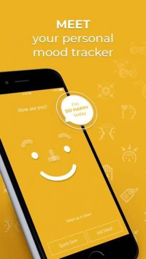 iPhone、iPadアプリ「Moodnotes - シンプルな気分記録」のスクリーンショット 1枚目