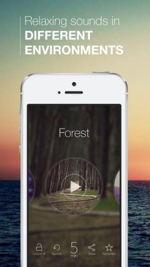 iPhone、iPadアプリ「音楽Proをリラックス - 最高のリラックスした音を」のスクリーンショット 2枚目
