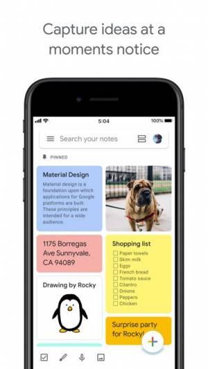 iPhone、iPadアプリ「Google Keep - メモとリスト」のスクリーンショット 1枚目