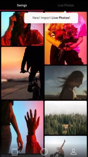 iPhone、iPadアプリ「Swing by Polaroid」のスクリーンショット 3枚目