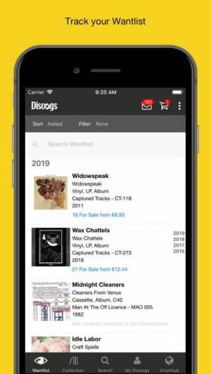iPhone、iPadアプリ「Discogs」のスクリーンショット 2枚目