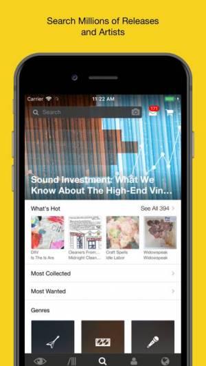 iPhone、iPadアプリ「Discogs」のスクリーンショット 1枚目