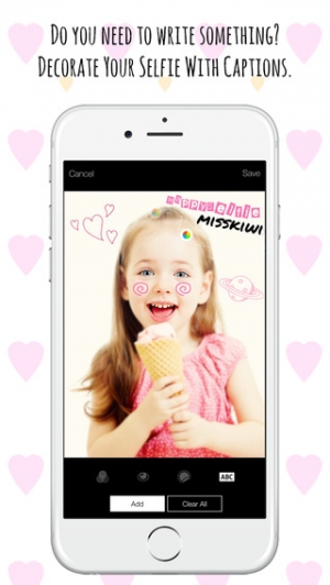 iPhone、iPadアプリ「Happy Selfie - 目が美しい自撮り」のスクリーンショット 5枚目