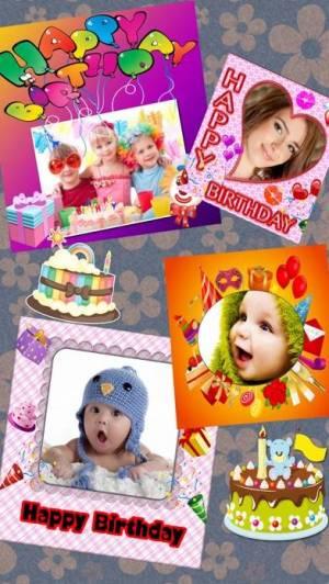iPhone、iPadアプリ「Birthday Frames + Wallpapers」のスクリーンショット 2枚目